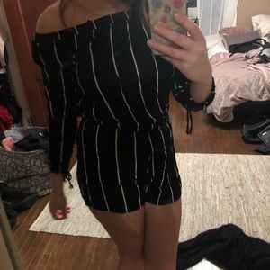 Striped romper. From Pac Sun, Kendall & Kylie